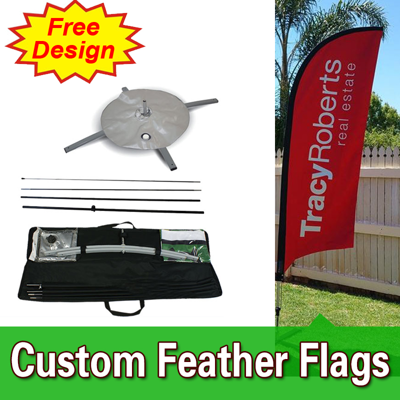 single sided Blade Banners Feather Banner Stands Feather Banner Flags FREE Shipping FREE Design, Fully Custom feather f