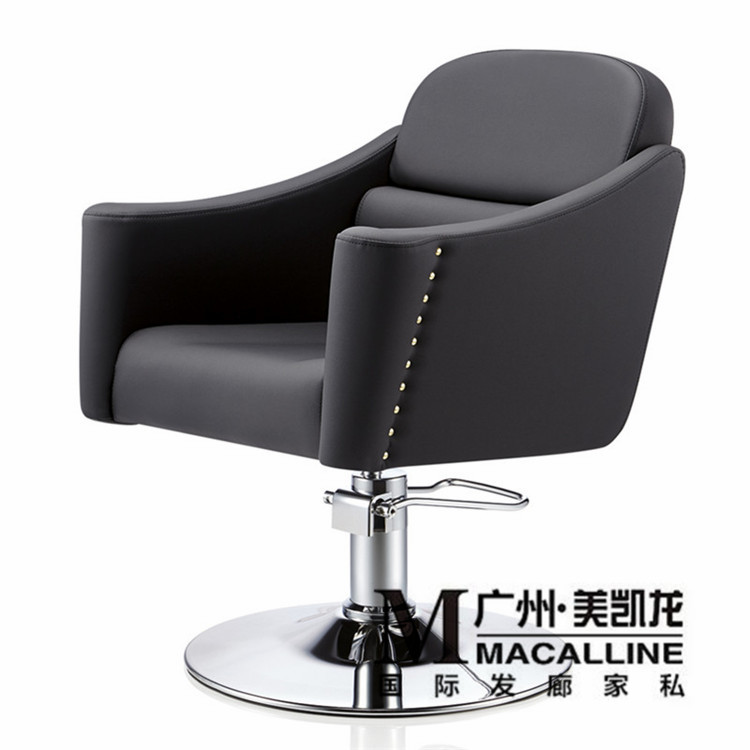 The New Metal Restoring Ancient Ways Is Hairdressing Chair.. Upscale Barber's Chair. European Hairdressing Chair