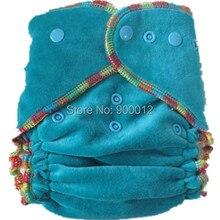Скидка 50% 10 бамбуковые велюровые детские тканевые подгузники детские подгузники многоразовые моющиеся регулируемые с 10 шт бамбуковые хлопковые вставки без пула