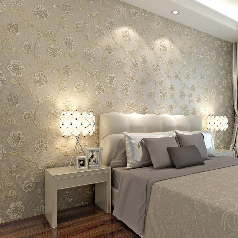 beibehang Pastoral flowers wallpaper non-woven wallpaper modern minimalist living room bedroom small floral backdrop wall paper beibehang embossed american pastoral flowers wallpaper roll floral non woven wall paper wallpaper for walls 3 d living room