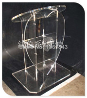 Hot sellingTransparent Acrylic Podium With Heart Shaped Front, Plexiglass Lecterns