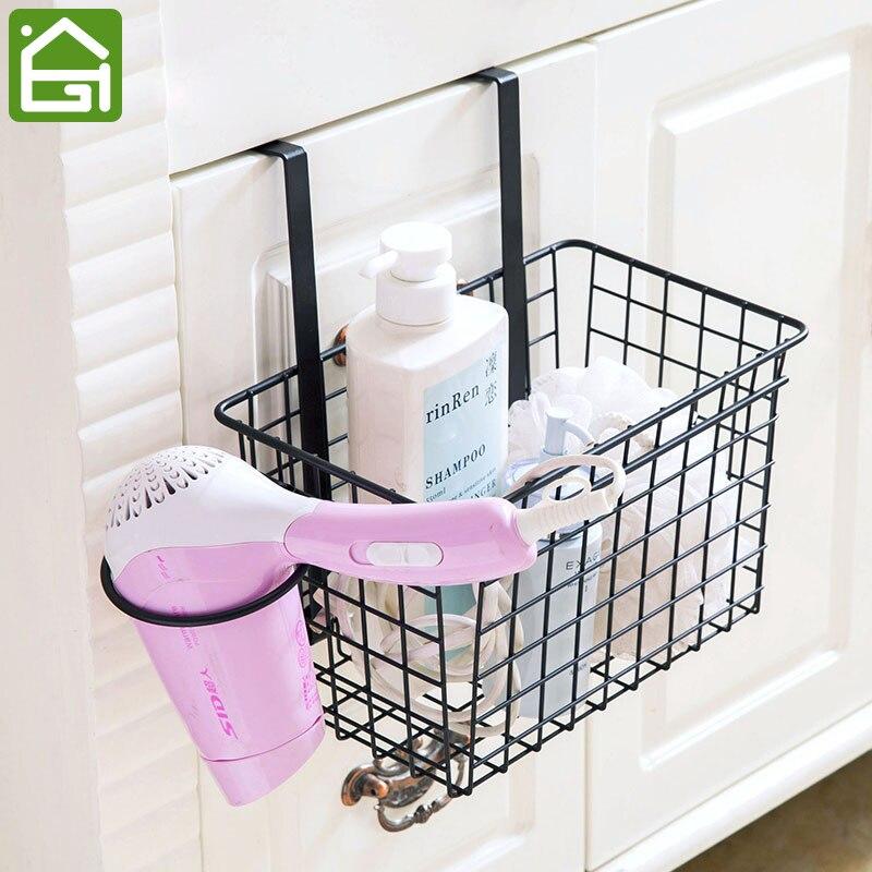 Kitchen storage basket cabinet hanging storage shelf food for Rack de rangement