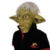 X-MERRY SPIELZEUG Yoda Maske Jedi Master Kostüm Zubehör Erwachsene Halloween Cosplay Kostüm Maske Kostenloser Versand
