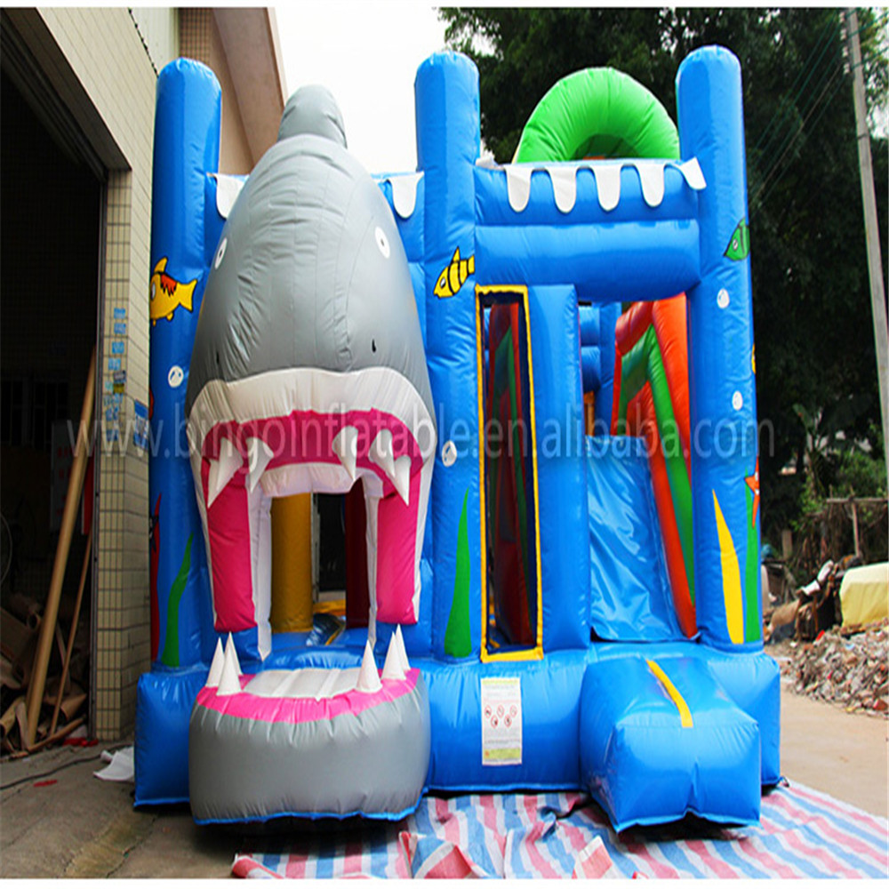 2018 Newly Outdoor inflatable bouncer jumping castle toy for kids carnival children jumpling trampoline with blower ocean theme commercial inflatable bouncer jumping bounce house inflatable trampoline with slide for party