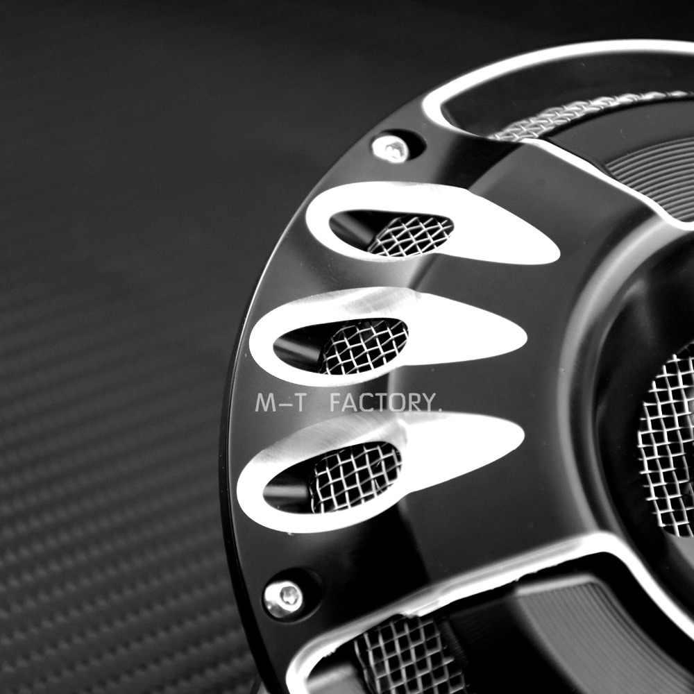 Motorrad Black & Chrome Horn Cover Kit Für Harley Touring 91-2018 Big Twin Lautsprecher Kit Billet Aluminium