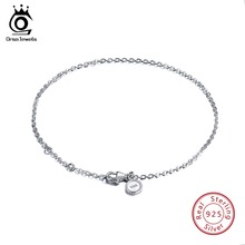 ORSA JEWELS Real 925 Sterling Silver Female Bracelets Sample Design Fashion Bracelet 17cm Jewelry Party Gift OSB29