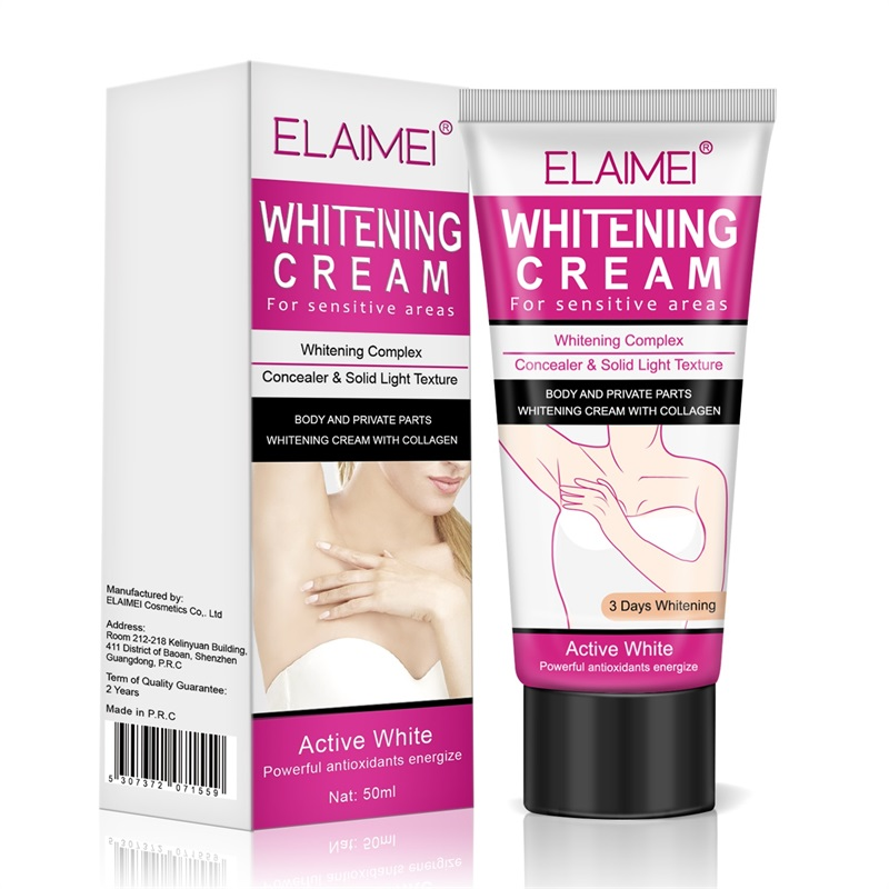 ELAIMEI Body Creams Armpit Whitening Cream Between Legs Knees Private Parts Whitening Formula Armpit Whitener Intimate