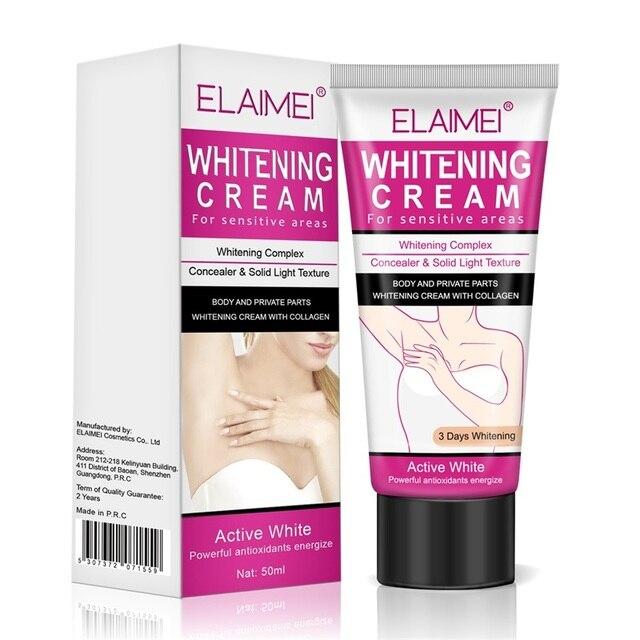 ELAIMEI Body Creams Armpit Whitening Cream Between Legs Knees Private Parts Whitening Formula Armpit Whitener Intimate