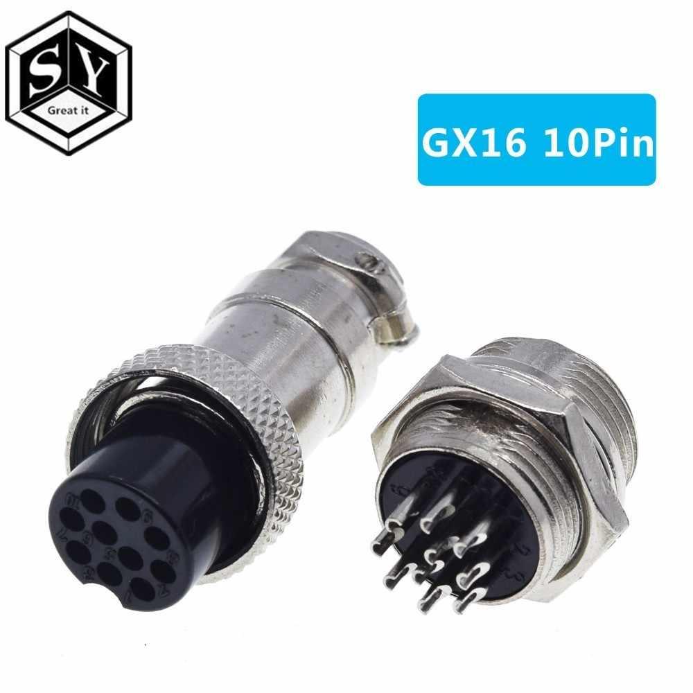 נהדר זה 1 סט GX16 2/3/4/5/6/7/8/9 /10 פין זכר ונקבת 16mm L70-78 עגולים התעופה שקע תקע חוט פנל מחבר עבור diy