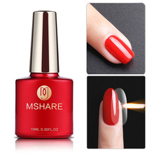 MSHARE Tempered Non-Scratch Top Coat Nail Gel Polish No Wipe  Topcoat