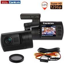 Conkim мини 0806 S Видеорегистраторы для автомобилей Камера Ambarella A7 1296 P 1080P HD dvr автомобиля черный ящик GPS Logger детектор движения Авто Видео Регистратор
