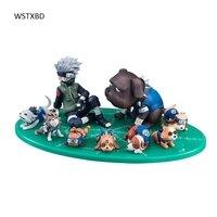 WSTXBD Gốc MH GEM Dòng Gaiden Naruto Shippuden Kakashi Ninken Set PVC Hình Brinquedos Đồ Chơi Figurals