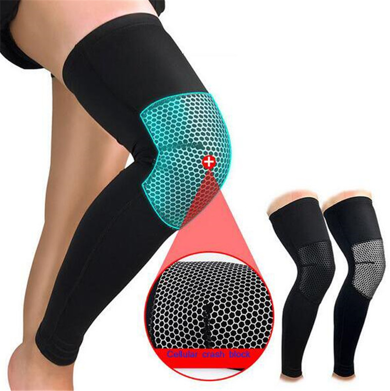 1Pair Sports Accessory Knee Support Football Cycling Knee Support Professional Protective Compression Knee Pad Sleeve
