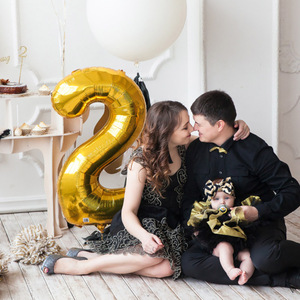 Image 3 - 1PCS 40inch gold silver number foil balloons 0 1 2 3 digit helium baloon my 1st 30th birthday party supplies Anniversary decor