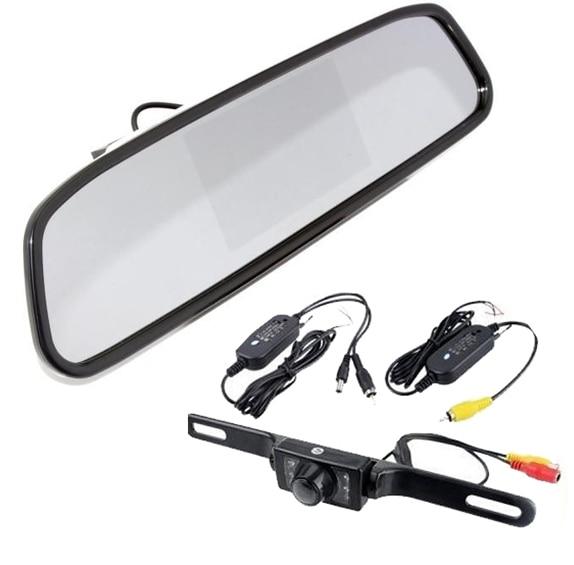 4 3 Quot Car Tft Lcd Monitor Mirror Wireless Reverse Car Rear
