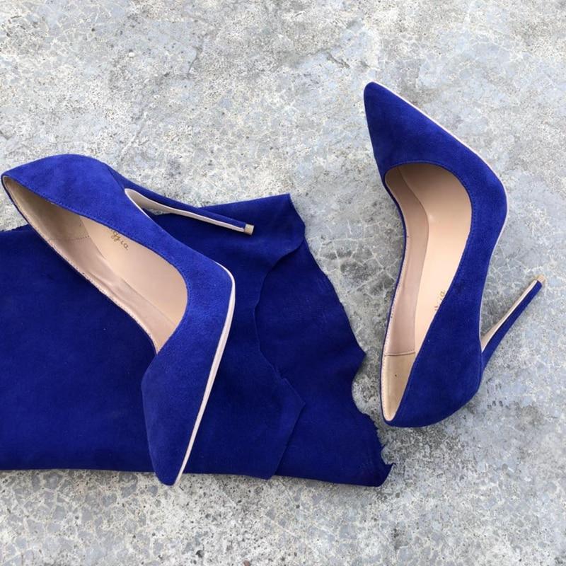 Profonde Pompes L'europe Dame En Femmes Cuir on Peu Pointu 2018 Slip Talons Simples Chaussures Femme Bout Parti À Hauts Flock Printemps vqd40Ww8