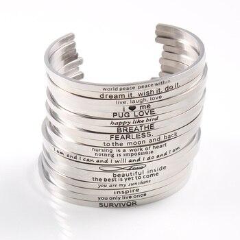 Ασημένιο βραχιόλι με διάφορα μηνύματα Βραχιόλια Κοσμήματα Αξεσουάρ MSOW