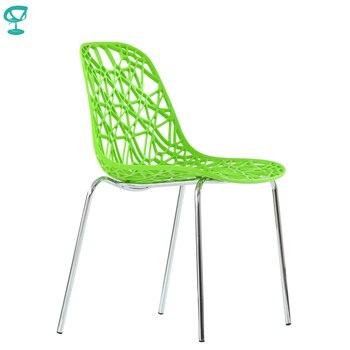 95598 Barneo N-225 кухонный стул пластиковый стул салатовый стул на металлокаркасе стул для улицы мебель для кафе стул для кафе уличный стул для лет...