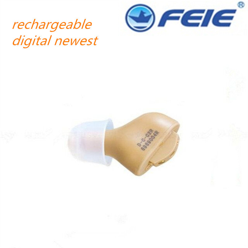 2017 Ear Tools  Cheap Sound Amplifier CIC Digital Rechargeable Invisible Hearing Aid S-51 for Mild Hearing Loss for The Elderlys acosound invisible cic hearing aid digital hearing aids programmable sound amplifiers ear care tools hearing device 210if