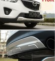Front and rear Bumper Protector Skid Guard 2 pcs CX-5 CX5 2012-2015 (strengthen the quality material thickness)