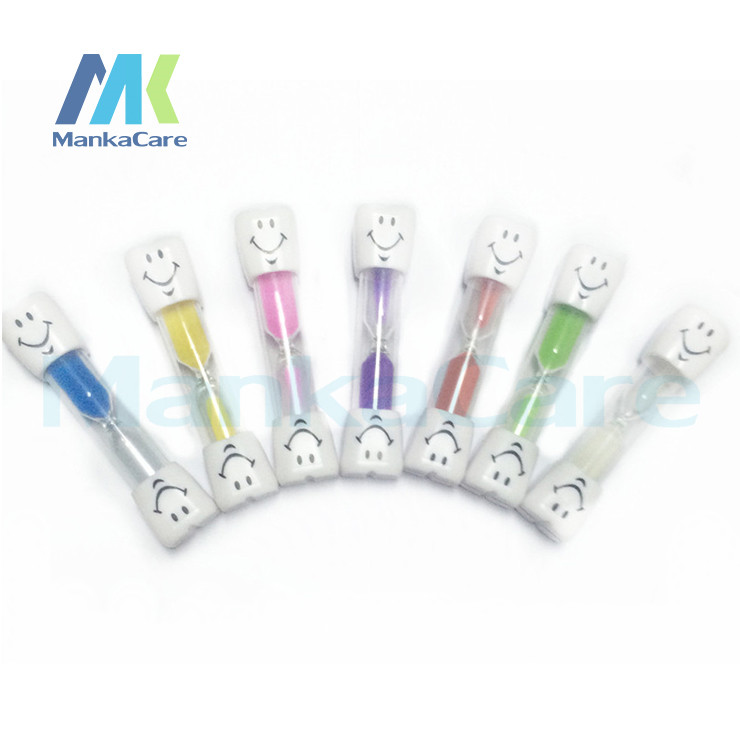 Купить с кэшбэком 10 pcs Tooth Sand Clock Toothbrush Timer For Brushing Kids Teeth 3 Minutes Smiley Sand Timer Clocks Hourglasses