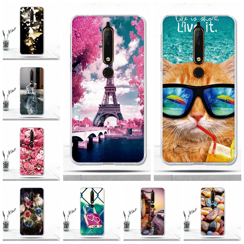 Fundas For Nokia 6 (2018) / Nokia 6.1 Case Cover Luxury Soft TPU Silicone Phone Case for Nokia 6 2018/Nokia 6.1 Cover Bags Capas