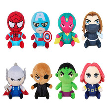 Marvel Avengers Plush Soft Dolls Superhero Captain America Ironman Iron man Spiderman Thor  Toys Spider toys children