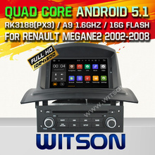 WITSON Android 5.1 Quad Core CAR DVD for RENAULT Megane II Fluence 2002-2008 +1024X600 SCREEN+DVR/WIFI/3G+DSP+RDS+16GB flash