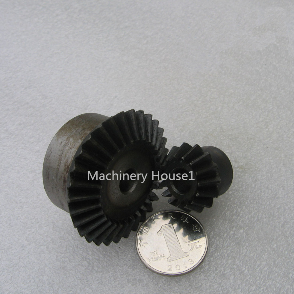 Bevel Gear 15Teeth 30Teeth ratio 1:2 Mod 1.5 Bore 8mm 45# Steel Right Angle Transmission parts DIY Robot competition M=1.5 bevel gear a pair 20t 1 5 mod m modulus ratio 1 1 bore 8mm 45 steel right angle transmission parts