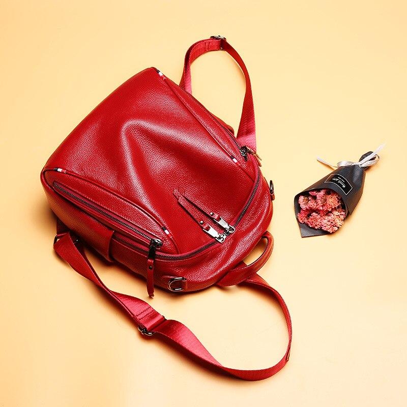 Sac à dos multifonction Anti-vol pour femme 100% sac à dos en cuir naturel pour femme sac de voyage Design de luxe sacs d'école pour filles
