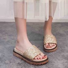 Fashion Women Slippers Flip Flops Summer Women Crystal Diamond Bling Beach Platform Slides Sandals Casual Shoes Slip On Slipper rhinestone women slippers flip flops summer women crystal diamond bling beach slides sandals casual shoes slip on slipper