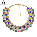 Fashion Z Design Collar Necklace High Quality Luxury Crystal Inlaid Gold Plated Necklace Statement Jewelry Wholesale NK792