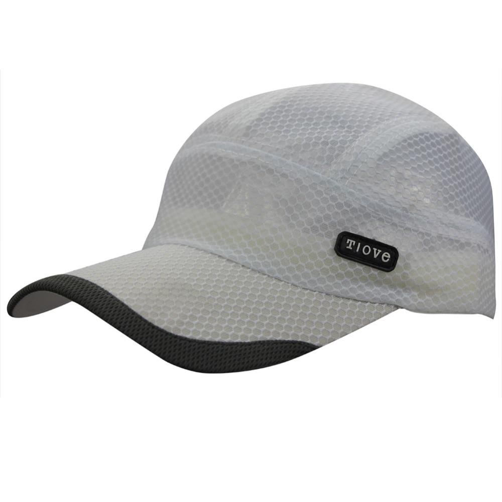 943c186034f1e Men s Womens Unisex Summer Outdoor Sports Travel Sea Beach Full Mesh Quick- dry Long Brim Baseball Golf Runner Sun Hat Cap Visor