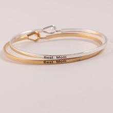 10pcs Silver Gold Copper Bangles Positive Inspirational Bracelet Engraved Quotes Mantra & Bangle for Women