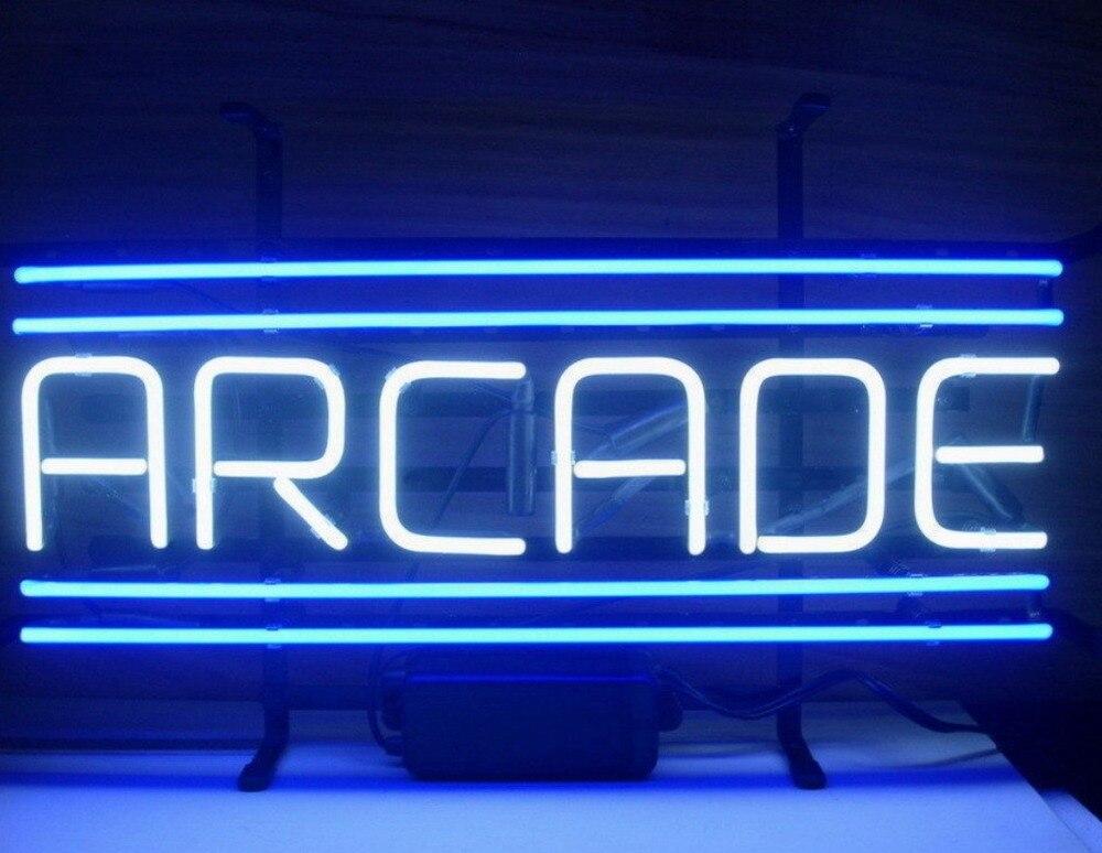 barra de cerveja de sinal de luz de neon de vidro azul de arcada personalizada