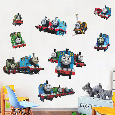 Removable Thomas Tank Engine Wall Mural PVC Art Decal Nursery Baby Room  Stickere(China (