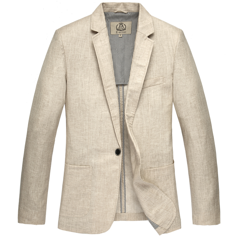 spring linen one button suit men's clothing outerwear blazers high quality new arrival plus size S M L XL XXL 3XL 4XL 5XL женское платье andys 5xl m l xl xxl 3xl 4xl 5xl vestidos f27