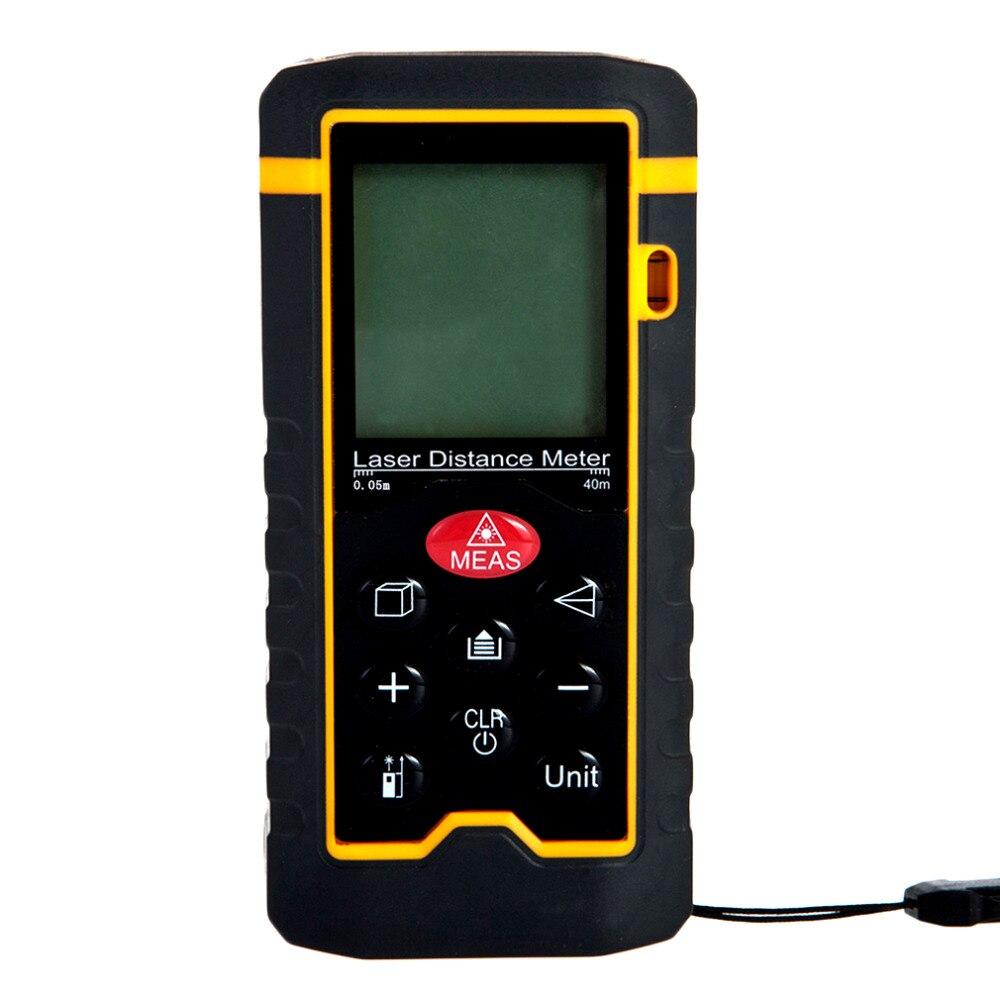 HT-40 Handheld Laser Rangefinder Laser Distance Meter Digital Laser Range Finder Laser Tape Measure Area/Volume Tester Tool  ht 305 ht305 digital laser distance meter prices
