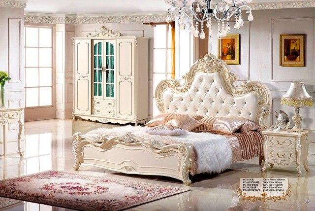 Venta caliente muebles de dormitorio moderno cama de cuero muebles ...