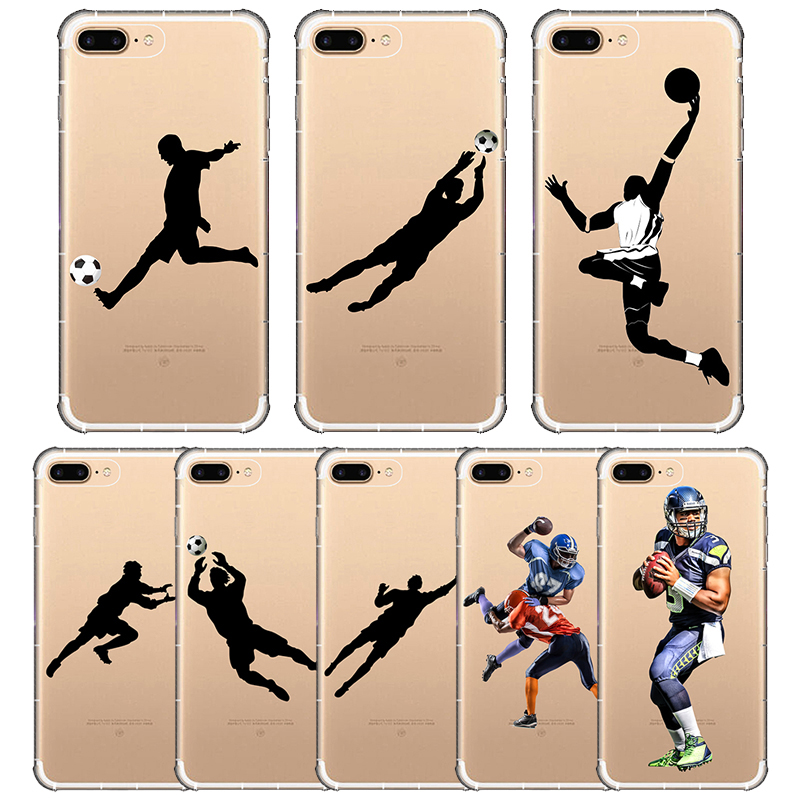 Soccer Football Basketball Sport Phone Cover Soft Silicone Phone Case for iPhone X 6 7 8 6s plus 5 SE 5s