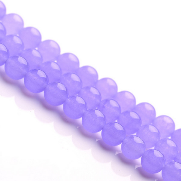 Natural Purple Chalcedony Bead Round Grade AAAAAA Gem Stones DIY Making Loose Beads Real Stones for Necklaces Bracelets