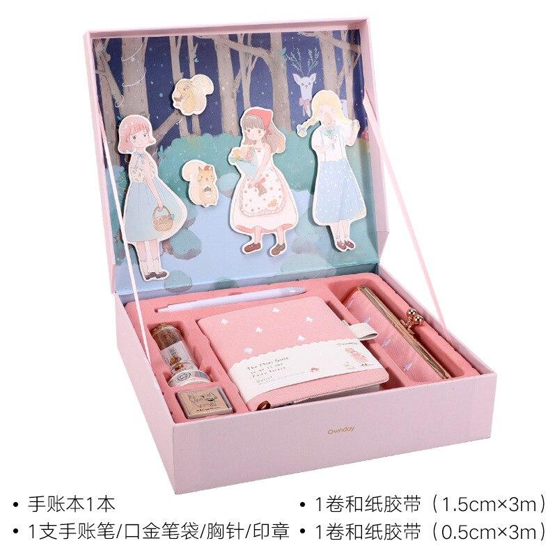 Kawaii papeterie conte de fées forêt balle journal coffret cadeau coffret fraîcheur cadeau cahier créatif fantaisie journal carnet de croquis