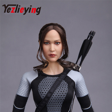 Ponytail hair Europe and the United States sexy beauty Jennifer Lawrence exquisite womens 1/6 head shape female carving