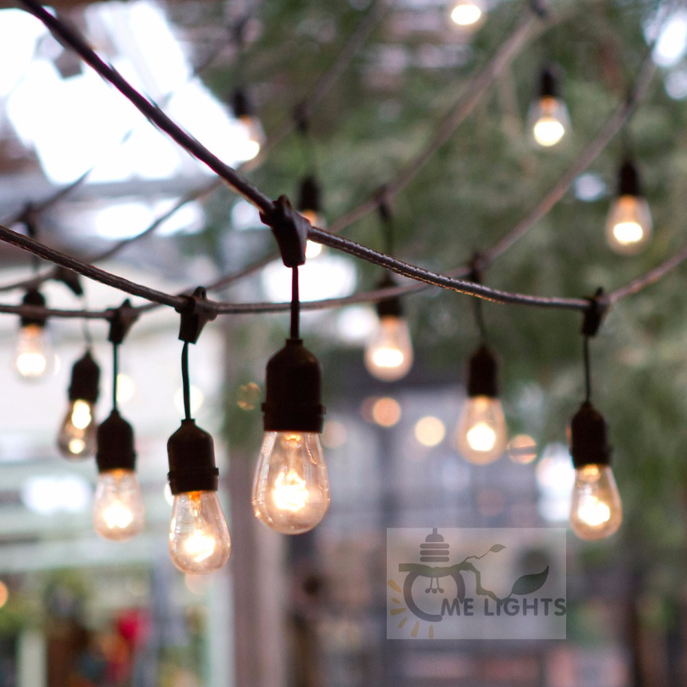 Étanche Heavy Duty 15 M En Plein Air Edison Ampoule Jeu de lumières Connectable Feston pour Garden Party De Noël de Vacances Guirlande Café