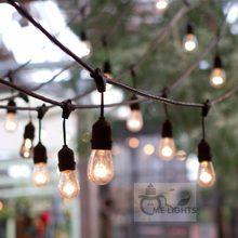 Светодиодная лампа Эдисона, водонепроницаемая, сверхпрочная, длиной 15 м, вечерние гирлянды для сада, Рождества, праздника