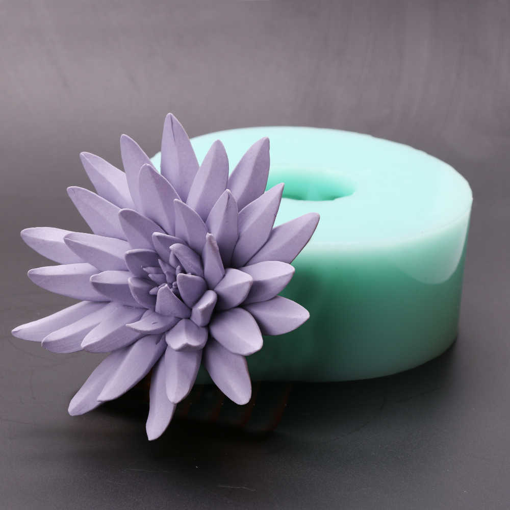 0784c558a ... przy HC0037 Silica gel 3D molds Purple Lotus silicone soap mold candle mold  aroma mould handmade ...