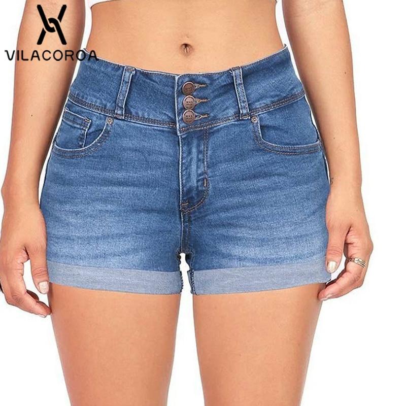 5 Color High-Waist Jean Zipper Botton Women's Denim   Shorts   Fashion Pocket Modis   Shorts   Femme   Short   Mujer pantalones cortos mujer