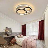 Modern led chandeliers round white black lights for bedroom Aluminum living room kitchen AC85 265V decorative chandelier lamp