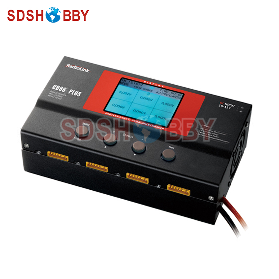 RadioLink Balance Charger Upgraded CB86 Plus for 8pcs 2-6S Lipo Battery at one time Professional for RC Lipo Battery RC Model 1s 2s 3s 4s 5s 6s 7s 8s lipo battery balance connector for rc model battery esc