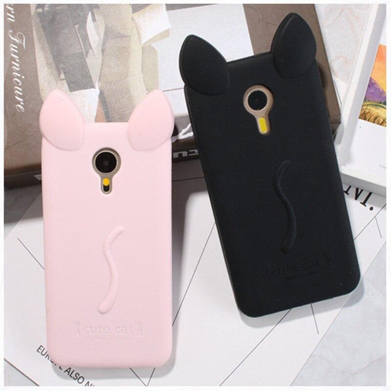 Для Meizu M3 Note чехол Конфеты Цвета Прекрасный 3D с кошачьими ушками Мягкие силиконовые телефон чехол для Meizu M2 m3 Note Чехол Coque